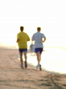 jogging beach